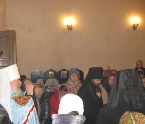 Приезд митрополита Климента 22 декабря 2014 года