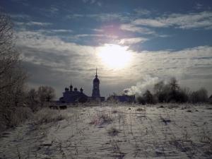 Солнечный день в монастыре