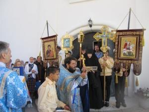 Крестный ход после литургии на праздник Успения Пресвятой Богородицы